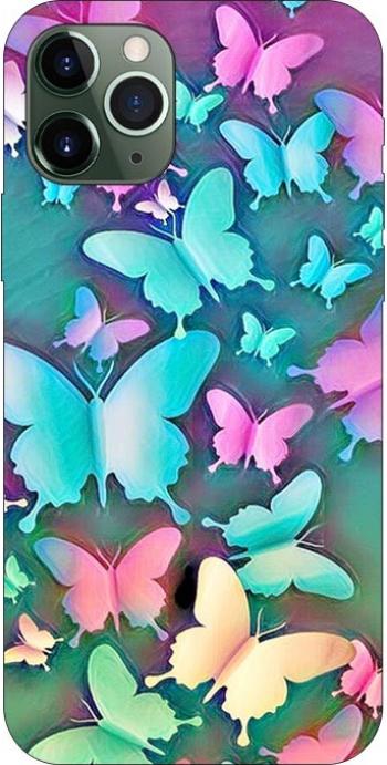 Husa Silicon Soft Upzz Print Compatibila Cu iPhone 11 Pro Model Colorfull Butterflies Huse Telefoane