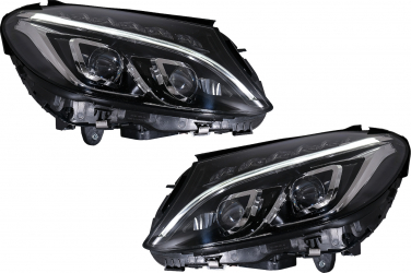 Set 2 Faruri Full LED compatibil cu Mercedes Benz C-Class W205  S205  A205  C205 2014-2018 HLMBW205OE Proiectoare, Lampi si Leduri