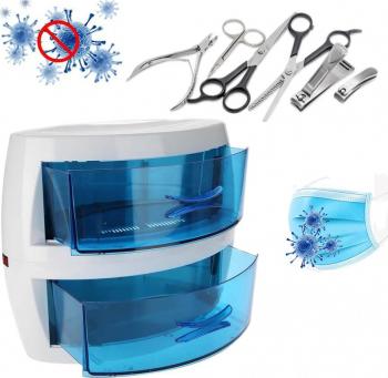 Sterilizator UVC profesional 8W 2 sertare pentru obiecte mici instrumentar masti