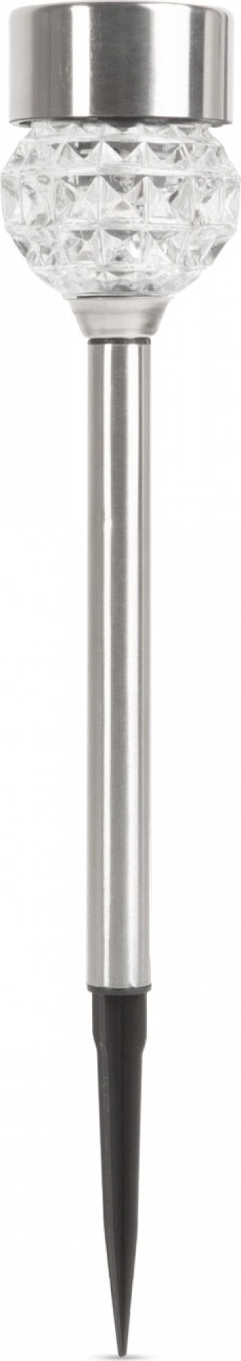 Lampa Solara LED din Metal Satinat si Sticla tip Diamant Inaltime 37cm Corpuri de iluminat