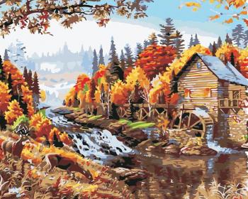 Set pictura pe numere Tablou Toamna la munte Tablouri
