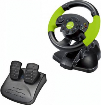 Volan gaming cu pedale Xbox 360/PC/PS3 13 butoane vibratii Esperanza