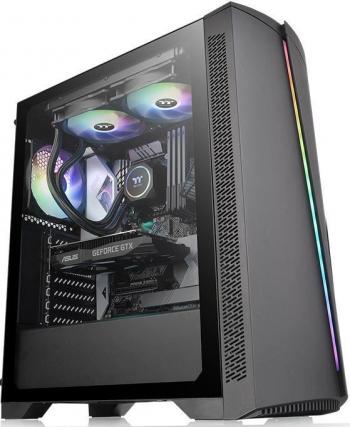 Carcasa Thermaltake H350 Tempered Glass RGB Negru Carcase