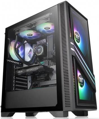 Carcasa Thermaltake Versa T35 Tempered Glass RGB Negru Carcase