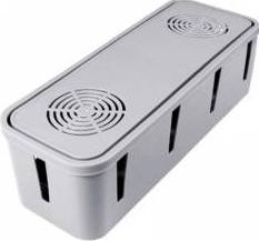 Cutie organizare cabluri gestionare cabluri birou organizator Cable Management Box gri FMD091