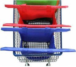 Set 4 sacose pentru carucior de cumparaturi 4 dimensiuni fixare pe carucior reutilizabile multicolor FMD220