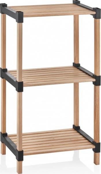 Etajera cu 3 rafturi din lemn si plastic 30 x 40 x 72.50 cm bienWood BIE9003 Rafturi si vestiare