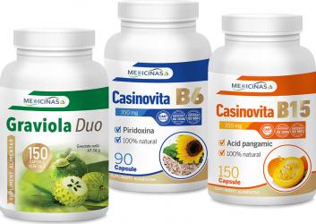 Graviola Duo + Casinovita B15 + Casinovita B6 Medicinas