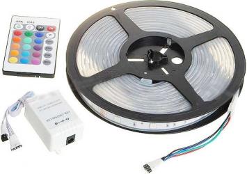 Banda LED Rosu Verde Albastru Lungime 3 Metri cu controller telecomanda transformator