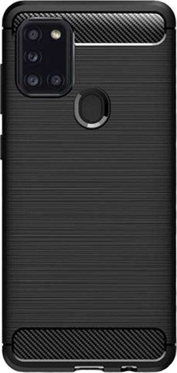 Husa compatibila cu Samsung Galaxy A21S G-Tech TPU din carbon Negru Huse Telefoane