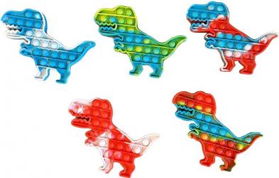 Jucarie senzoriala antistres pentru copii Pop It Now Dinozaur Multicolor Jucarii