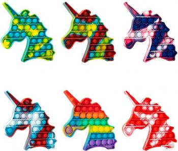 Jucarie senzoriala antistres pentru copii Pop It Now Unicorn Multicolor Jucarii