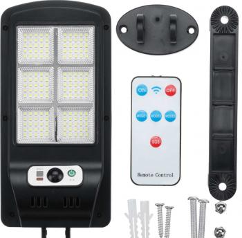 Lampa Solara 150 LED cu Telecomanda si Senzor de miscare Corpuri de iluminat