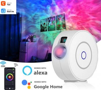 Proiector de stele cu laser si RGB controlat prin Wi-Fi cu Alexa Google Home sau SmartApp
