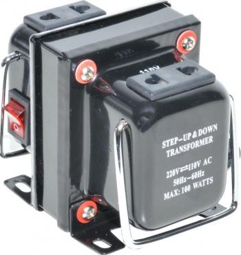 Transformator tensiune 220V-110V elSales ELS-TDS 100 W negru