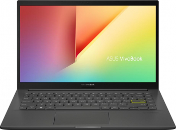 Laptop ASUS VivoBook 14 K413JA Intel Core 10th Gen i5-1035G1 512GB SSD 8GB FullHD Tast. ilum. Indie Black Laptop laptopuri