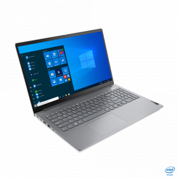Laptop Lenovo ThinkBook 15 G2 ITL Intel Core 11th Gen i5-1135G7 512GB SSD 8GB Iris Xe FullHD Win10 Pro FPR Tast. ilum. Mineral Grey Laptop laptopuri
