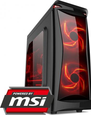 PC Gaming Diaxxa powered by MSI Intel 10th i5-10400F 2.9GHz HDD 1TB+SSD 120GB 16GB DDR4 Geforce GTX 1050 Ti 4GB GDDR5 128bit Calculatoare Desktop