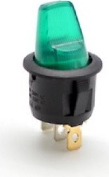 Buton intrerupator basculant led verde Robotica
