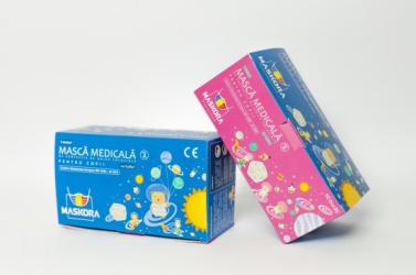Cutie 50 Masti medicale albe pentru copii tip IIR de unica folosinta 3 straturi filtrare bacteriana Masti chirurgicale si reutilizabile