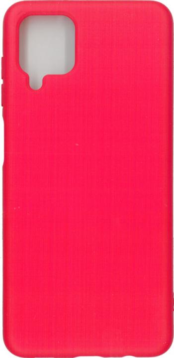 Husa Liquid din silicon mat pentru Samsung Galaxy A12 rosu