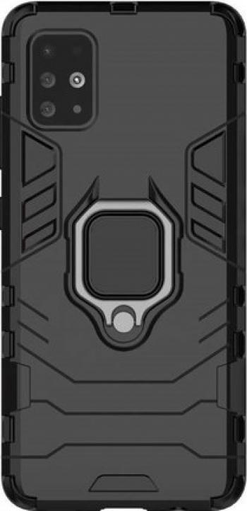 Husa premium din silicon iPhone 11 Pro Max Slim Ring Negru Huse Telefoane