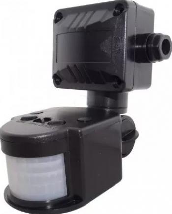 Senzor De Prezenta 180 Grade Pentru Exterior led negru