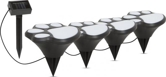 Set 4 buc. Lampa Solara LED Amprenta de Labuta Caine Corpuri de iluminat