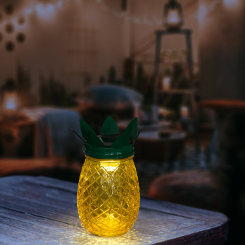 Lampa Solara LED Model Ananas Mare Dimensiuni 17x9cm Corpuri de iluminat