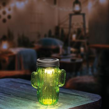 Lampa Solara LED Model Cactus Dimensiuni 14x7cm Corpuri de iluminat