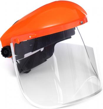Masca de protectie reglabila Tagred din PVC pentru cap si fata portocaliu Accesorii materiale de constructie