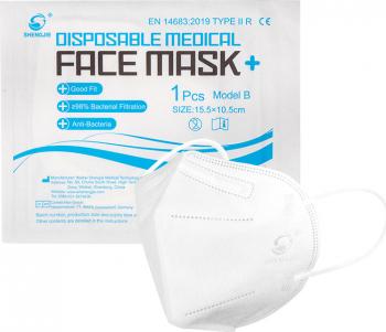 Masca medical fara supapa Model B Type IIR Masti chirurgicale si reutilizabile