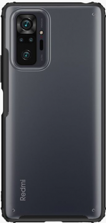 Husa Spate Upzz Hybridshell Compatibila Cu Xiaomi Redmi Note 10 Pro Frosted Negru Huse Telefoane