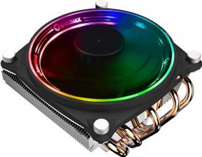 Cooler procesor Gamemax Gamma 300 Rainbow Dual Ring Negru