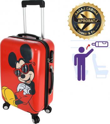 Troler cabina Disney 50 x 34 x 21 cm geamantan Love Mickey rosu-negru