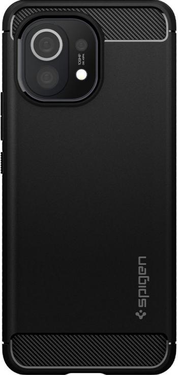 Husa Premium Spigen Rugged Armor Pentru Xiaomi Mi 11 Silicon Negru