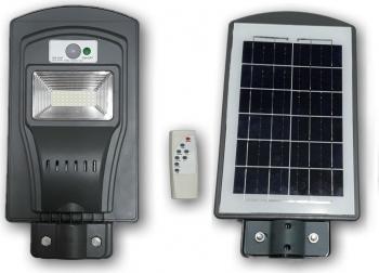 Lampa solara stradala 30W 40 LED proiector telecomanda senzor miscare si lumina