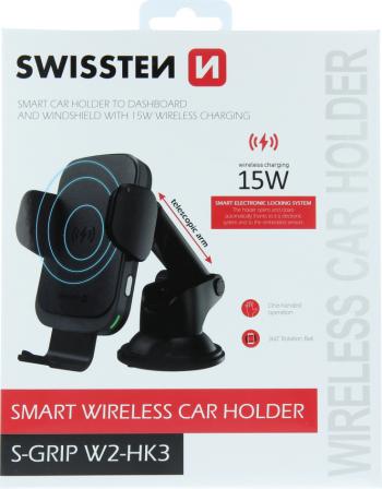 Suportul auto wireless pentru smartphone S-GRIP SWISSTEN Incarcatoare Auto