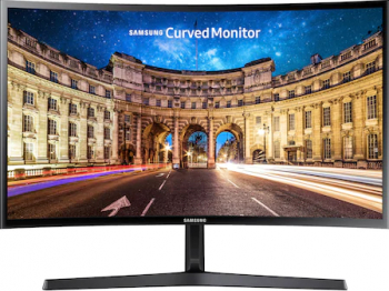 Monitor Curbat LED 24 Samsung LC24F396FHRXEN Full HD 4 ms 60 Hz FreeSync Monitoare LCD LED