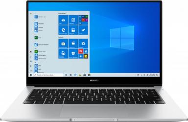 Ultrabook Huawei MateBook D 14 2021 Intel Core (10th Gen) i5-10210U 512GB SSD 16GB FullHD Win10 Tastatura iluminata FPR Silver Laptop laptopuri