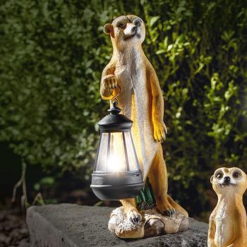 Decoratiune solara I-Glow mangusta cu felinar Corpuri de iluminat