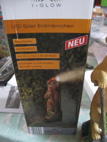 Decoratiune solara I-Glow mangusta muncitor Corpuri de iluminat