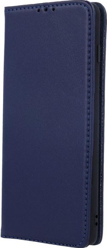 Husa flip cover pentru Samsung Galaxy A12 din piele naturala Albastra