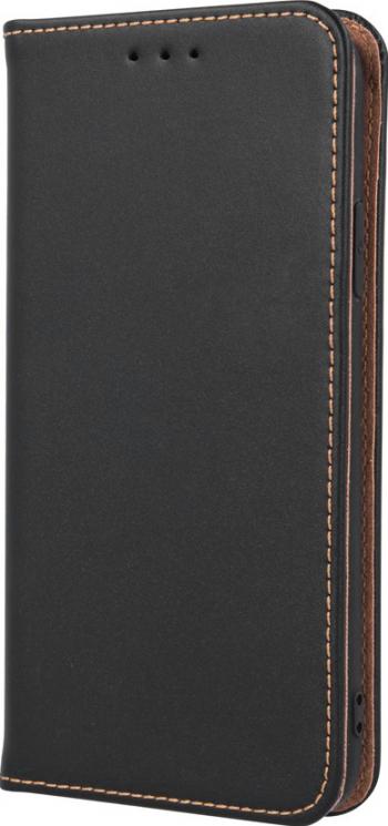 Husa flip cover pentru Samsung Galaxy A12 din piele naturala Neagra