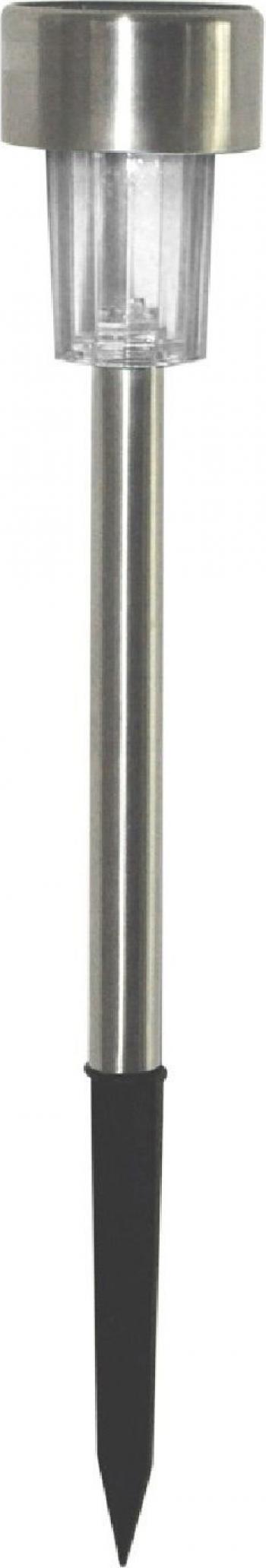 Lampa Solara LED din Metal Argintiu Inaltime 30cm Corpuri de iluminat