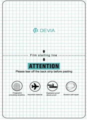 Folie Protectie Ecran Silicon Auto regenerare DOOV D7 Devia Transparent Blister Folii Protectie