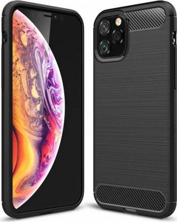 Husa protectie Carbon Silicone pentru iPhone 11 Pro Negru Huse Telefoane