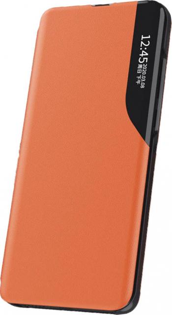 Husa premium tip carte finisaj piele ecologica inchidere magnetica iPhone 11 Pro Max Portocaliu Huse Telefoane