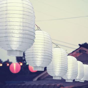Lampa Solara LED Model Lampion Alb Dimensiuni 32x21cm Corpuri de iluminat