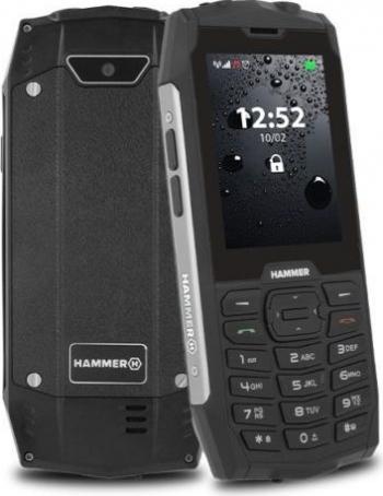 Telefon mobil MyPhone Hammer 4 Dual SIM 2G Negru-Argintiu Telefoane Mobile